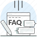 asked, development, faq, frequently, questions, web, website icon