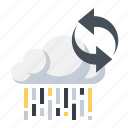 arrows, cloud, computing, processing, sync icon
