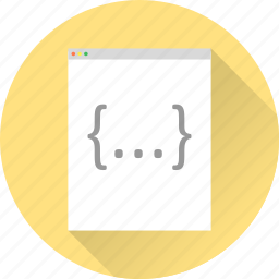 brackets, code, javascript, programm, web, web design, web development icon