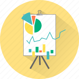 analytics, charts, diagram, graphs, pie, presentation, statistics icon