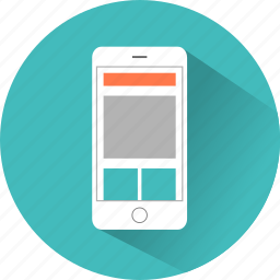 iphone, layout, mobile, presentation, web, webpage, website icon