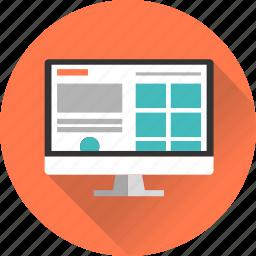 internet, layout, presentation, screen, web, webpage, website icon