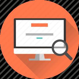 internet, portal, screen, search, search engine, seo, web icon