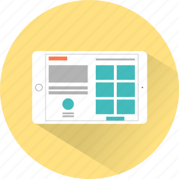 layout, presentation, tablet, web, webpage, website icon