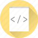code, development, html, programm, tags, web design, web development icon