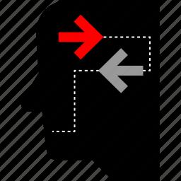activity, thinking, user, web icon