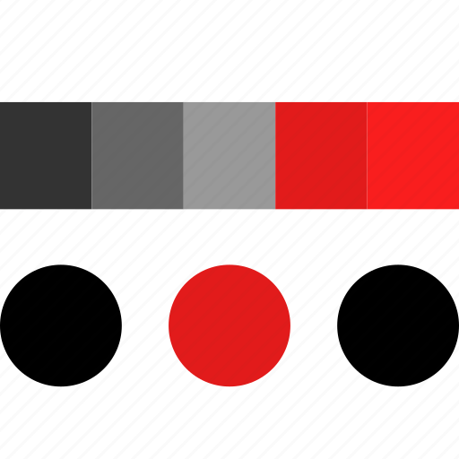 colors, combinaiton, design, thinking icon