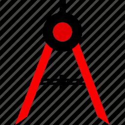 compass, create, measure, ruler icon