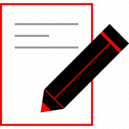 design, document, edit, thinking icon