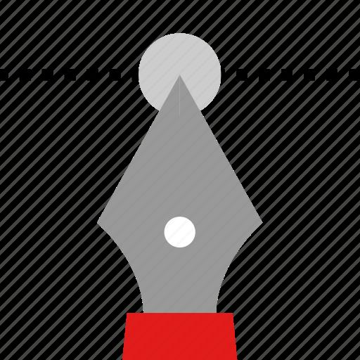 editing, illustrator, pen, tool icon