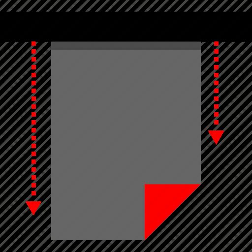 design, graphic, print, printer icon