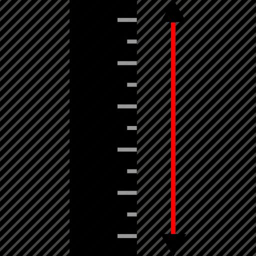 arrows, measure, ruler icon