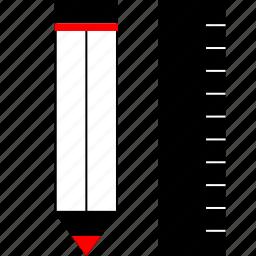 create, measure, pencil, ruler icon