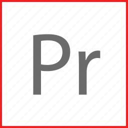 adobe, premier, software, video icon