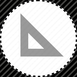 acute, angle, measure, ruler icon