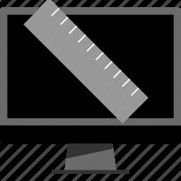 mac, measure, pc, ruler icon