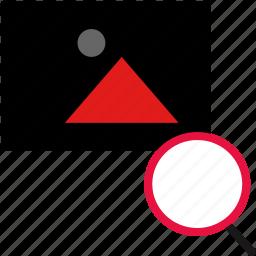 album, flickr, photo, search icon