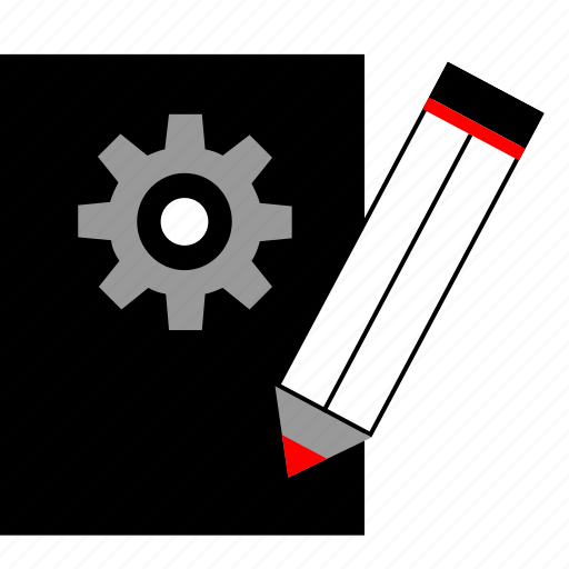 edit, page, pencil, settings icon