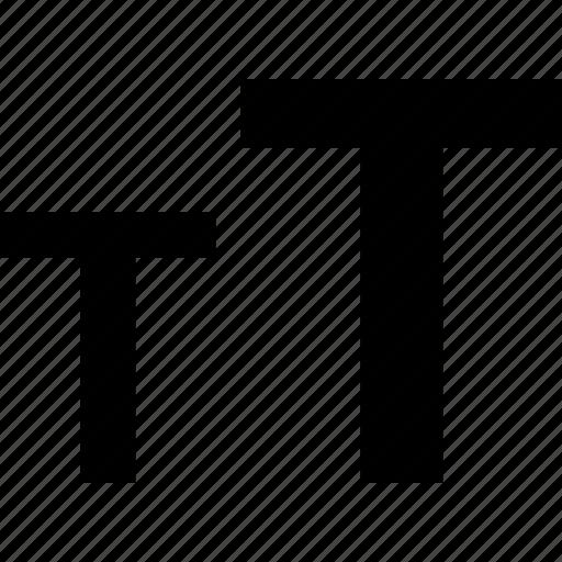 caps, edit, small, text icon