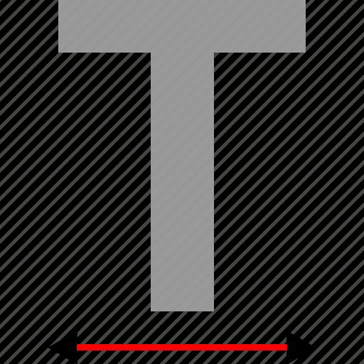 big, expand, make, text icon