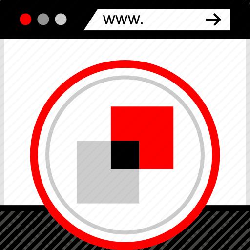 builder, colors, site, web icon