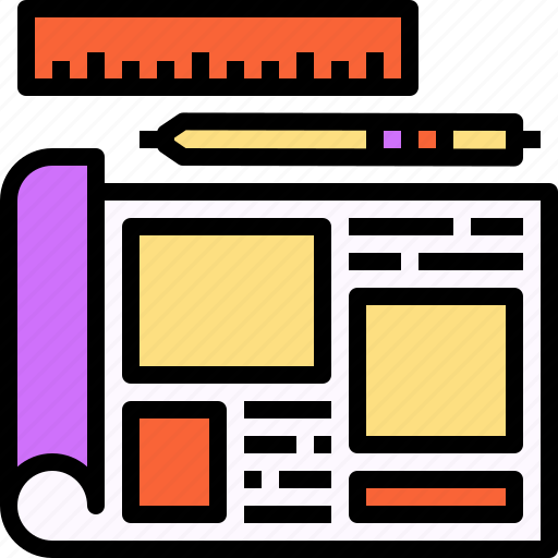 design, paper, plan, sketch, wireframe icon