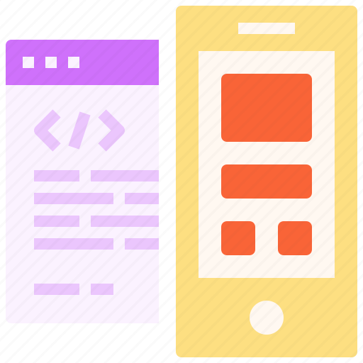 application, code, coding, edit, mobile, page, web icon
