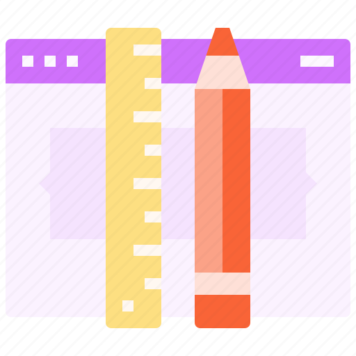 code, edit, page, pencil, ruler, tool, web icon