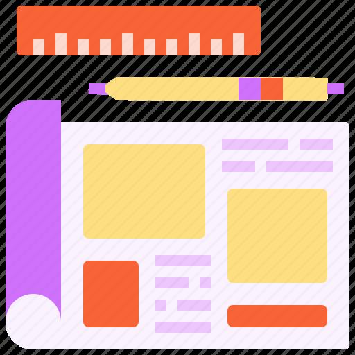 design, paper, plan, sketch, wireframe icon