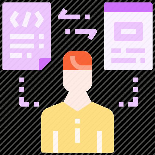 designer, developer, programmer, technical, web icon