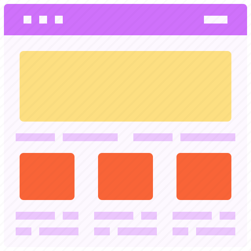 browser, design, interface, layout, page, web icon