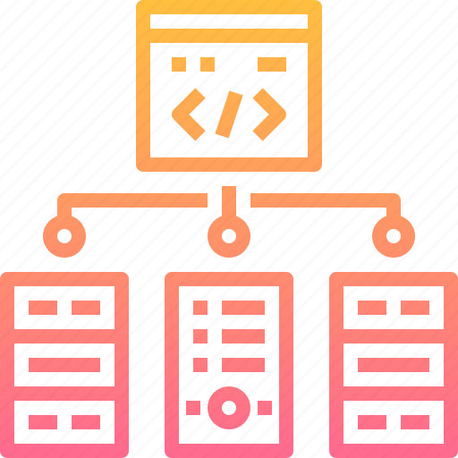 code, coding, data, html, page, server, web icon