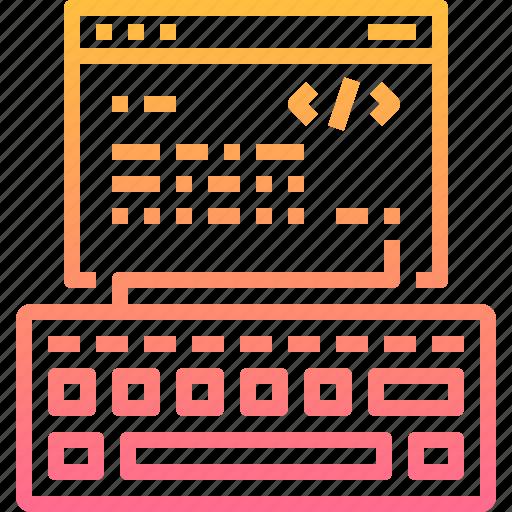 code, coding, html, key, keyboard, page, wev icon