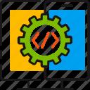 adaptive design, api, code, interface, setting, smartphone, sync icon