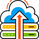 arrow, cloud, database, google, nas, storage, upload icon