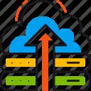cloud, storage, arrow, google, nas, upload, database