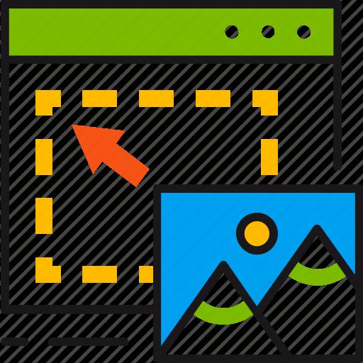 content, design, managment, placement, ui, ux, webpage icon