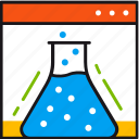 testing, experiment, flask, test, windows, research, science
