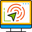 computer, geo, geolocation, interaction, interface, pointer, target icon