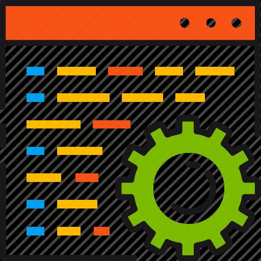 coding, config, configuration, development, gear, setting, web icon