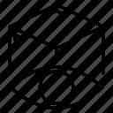 3d, development, eye, object, web icon