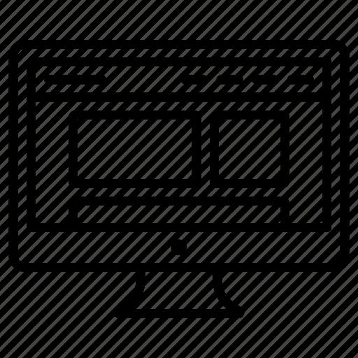 Design, desktop, ui, web, wireframe icon - Download on Iconfinder