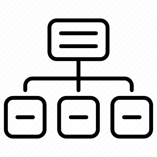 flowchart, map, site, sitemap, website icon