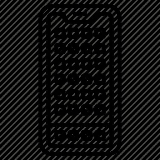 home, phone, screen, smart, ui icon