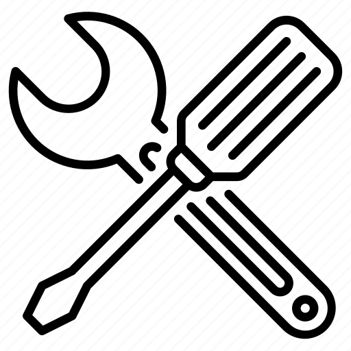 screwdriver, services, support, technical, wrench icon