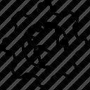 development, gear, globe, web, website icon