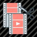 design, montage, motion, motion design, video, video film, video montage icon