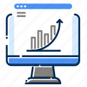 analytic, computer, development, feature, grapy, pc, web icon