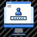 development, feature, login, programing, setting, user, web icon