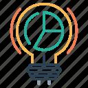 bulb, idea, imagination, innovation, light, setting icon